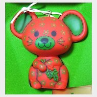 Calico Mouse - Early Hallmark Tree Trimmer Collection Ornament