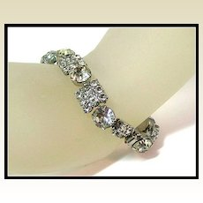 Gorgeous and Exceptionally Bright Rhinestone Bracelet