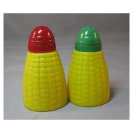 Colorful Plastic Corn Salt and Pepper Shakers