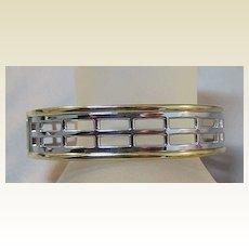 Two Tone Clamper Bracelet