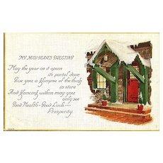 New Year's Greeting Postcard