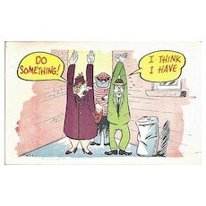 Humorous Postcard of Couple Being Robbed