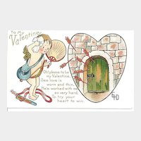 Cupid Valentine Post Card