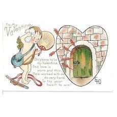 Cupid Valentine Post Card