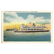 Postcard of San Diego and Coronado Ferry