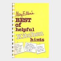 Mary Ellen's Best of helpful Kitchen hints - Spiral Bound Book