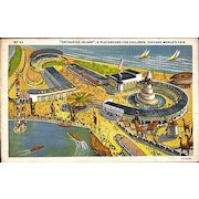 """Postcard of """"Enchanted Island"""" a Playground for Children at the Chicago World's Fair"""