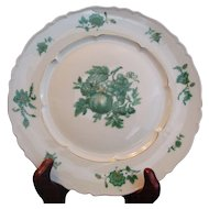 Chevalier (1) DINNER PLATE Limoges China Green Vintage