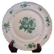 Chevalier (1) DINNER PLATE Limoges China Green Vintage