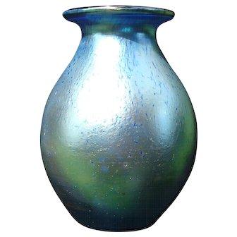 LOETZ Vase  Art Nouveau Iridescent Silberiris