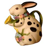 "Bunny Rabbit Teapot Schmid Music Box  Plays ""In the Good Old Summertime"""
