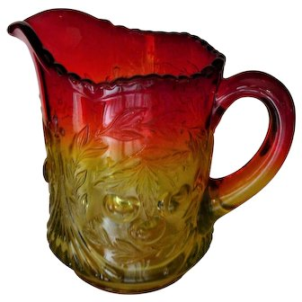 L G Wright Amberina CHERRY Pitcher