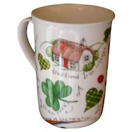 IRISH Cottage Coffee Cup Beaker