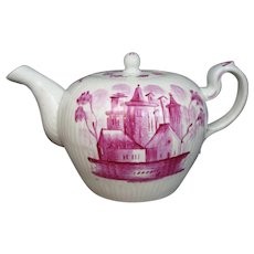 Tea Pot 18th Century Wallendorf Thuringia Pink