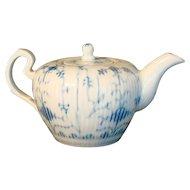 1787 Wallendorf Blue Tea Pot 18th Century - Thuringia Germany
