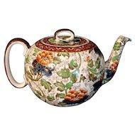 Royal Doulton Chintz Arts & Crafts Ball Teapot 1905
