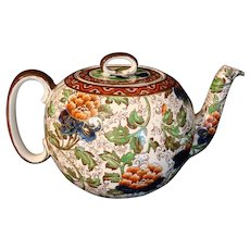 Royal Doulton Chintz Arts & Crafts Ball Teapot 1905