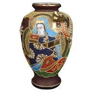 Kyoto Satsuma Vase – Dragon  Immortals & Guan Yin