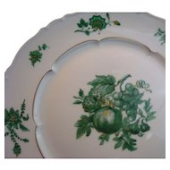 Chevalier (1) SALAD PLATE Limoges China Green Vintage