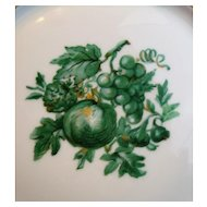 Chevalier (1) BREAD & BUTTER PLATE Limoges China Green Vintage