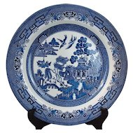 Set 3 Dinner PLATES Blue Willow by Churchill England
