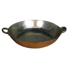 "Douro Solid Copper 10"" Sauté Pan Benjamin and Medwin Inc. Vintage 1990's"
