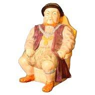 "Henry VIII Toby Jug  Prototype H. Wain & Sons 7.5"" LG Melba Ware"
