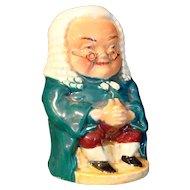 Miniature Toby Jug JUDGE Burlington Ware by Shaw & Sons Ltd