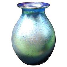 Loetz Silberiris Cobalt Cabinet Vase Bulbous