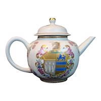Mottahedeh Armorial KITSON/GREGORY UNICORN TEA POT Vista Alegre Chinese Export