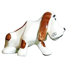Grindley Ohio Sad-faced Basset Hound Dog Figurine 1930s