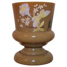 Caramel Bristol Glass Spill Vase Victorian