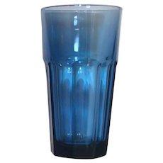 "SET 6 Libbey Duratuff Gibraltar 6"" COOLER Glasses - Dusky Blue"