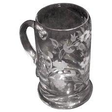 Crystal Etched Beer Mug