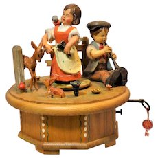 "Thorens Swiss Anri Hand Carved Music Box Tune ""True Love"",  Princess Bride Movie"