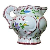 Vintage Pitcher RCCL Hand Painted Ceramic Portugal Floral Design