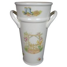 Flower Pail Edwardian Kitchen Garden Aynsley Vase