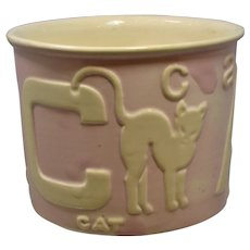 Vintage Haeger PINK ABC Planter Bowl Antelope Bear Cat 78-2 Pottery Nursery