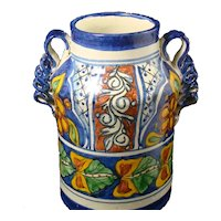 Talavera Vase Pottery Cobalt Decor