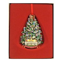 2015 Mt Vernon 3D Christmas TREE Ornament Gold Plated