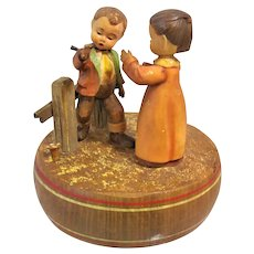 Anniversary Waltz Dancing Couple Thorens Swiss Movement Music Box Anri Hand Carved Figures