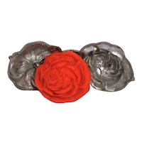 Rose Pewter Ice Cream Mold #581 Excellent Details