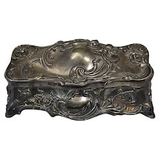 Wallace Music Box Jewelry Box Repousse Silver Plated Casket Nutcracker Waltz of the Flowers