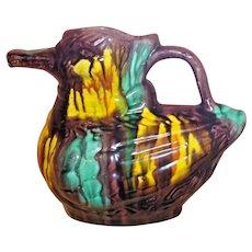 DUCK Mexican Drip Ware Pottery Pitcher Oaxacan Margarita San Luis Potosi Folk Art