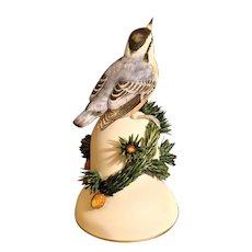 Bell Bird Nuthatch & Pine Cones Fine Bone China Franklin Mint 1986