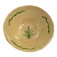"12"" Mixing Bowl Agave Cactus Pattern Mexican Pottery  Yellowware Tlaquepaque pottery"