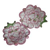 Pair Plates Strawberry  by Neuwirth Portugal Majolica Canapé