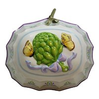 Cordon Blue Artichoke & Butterfly Ceramic Mold French Provincial