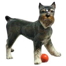 Goebel West German Schnauzer Dog Red Ball Figurine Doll House