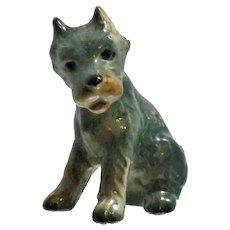 Seated Schnauzer Goebel Mini Figurine Ceramic Dog